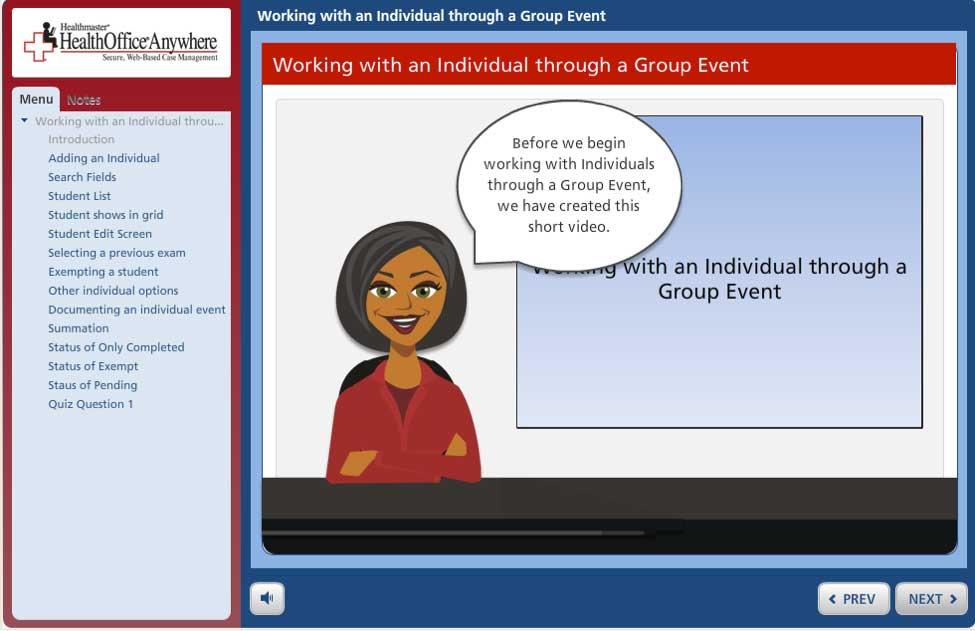 HealthOffice<sup>®</sup> Tutor Show Me screenshot
