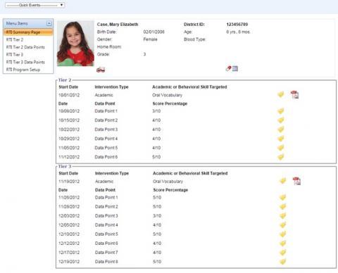 RtI Log index screenshot